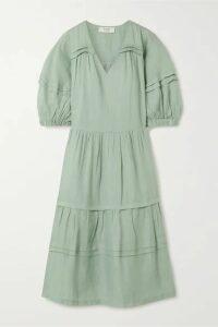 Sea - Lucy Tiered Ramie Midi Dress - Mint