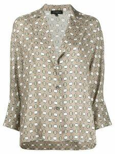 Antonelli geometric print shirt - NEUTRALS