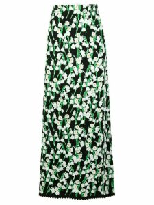 Carolina Herrera floral jacquard long skirt - Black