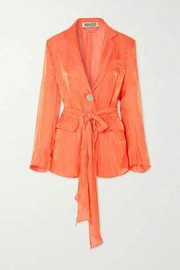 KENZO - Crinkled-satin Jacket - Orange
