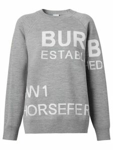 Burberry Horseferry jacquard jumper - Grey
