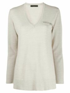 Fabiana Filippi metallic detail jumper - NEUTRALS