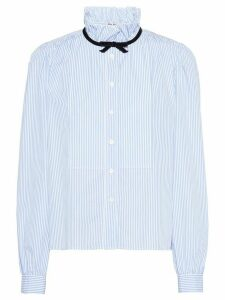 Miu Miu pinstriped poplin blouse - Blue
