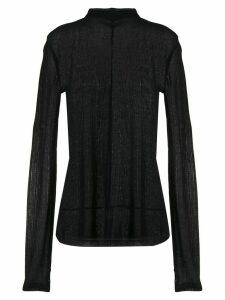 Helmut Lang sheer long-sleeve top - Black