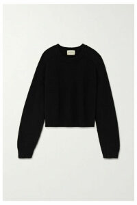 LOULOU STUDIO - Bruzzi Cropped Wool And Cashmere-blend Sweater - Black