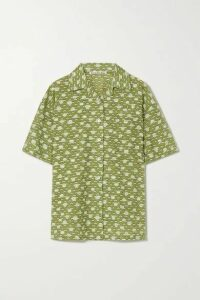 Acne Studios - Floral-print Cotton-blend Fil Coupé Shirt - Green