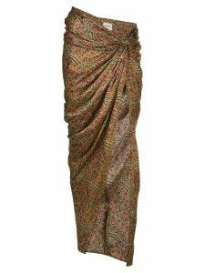 Khaite Louie draped wrap skirt - Red