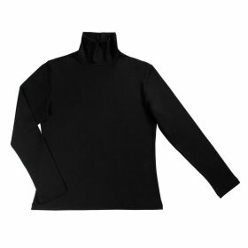 LA MILLA Milan - Organic Cotton Black Turtleneck