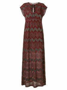 M Missoni zigzag embroidered maxi dress