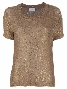 Snobby Sheep sequin embroidered top - Brown