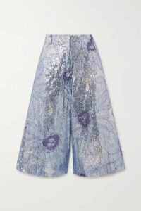 Jacquemus - Sequined Tulle Shorts - Lilac