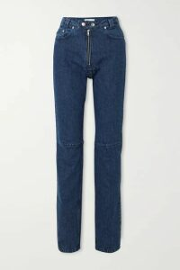 GmbH - + Net Sustain Darshini Paneled High-rise Slim-fit Jeans - Dark denim