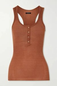 Isabel Marant - Louisali Ribbed Silk-jersey Tank - Orange