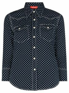 Denimist polka dot denim shirt - Blue