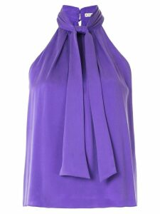 Alice+Olivia Leia neck-tie halterneck blouse - PURPLE
