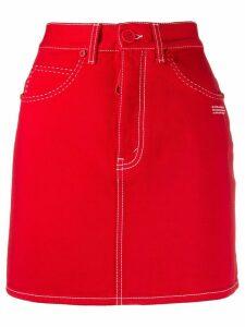 Off-White denim miniskirt - Red