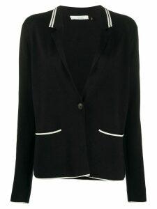 NELLS NELSON contrast trim cardigan - Black