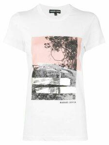 Markus Lupfer Kate Leopard Foil collage T-shirt - White