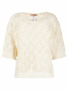 Twin-Set open knit jumper - NEUTRALS