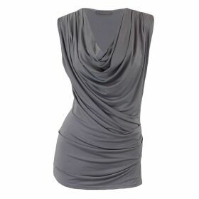 Me & Thee - Dead Ringer Grey Cowl Top