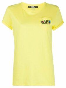 Karl Lagerfeld logo-print T-shirt - Yellow