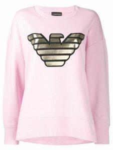Emporio Armani metallic logo sweatshirt - PINK