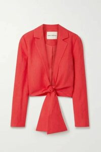 Mara Hoffman - + Net Sustain Catalina Tie-front Tencel And Linen-blend Jacket - Red