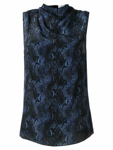 CAMILLA AND MARC Safaro snakeskin-print top - Blue
