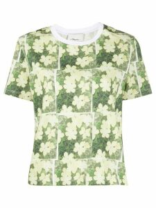 3.1 Phillip Lim daisy print cotton T-shirt - Yellow