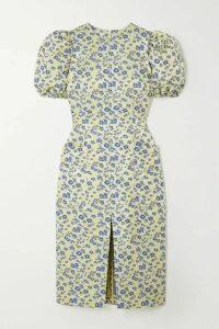ROTATE Birger Christensen - Katarina Floral-jacquard Dress - Yellow