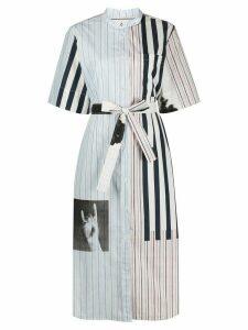 Paul Smith striped shirt dress - Blue