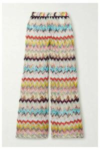 Missoni - Crochet-knit Wide-leg Pants - Blue