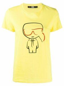 Karl Lagerfeld Karl pattern T-shirt - Yellow
