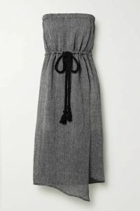 Lisa Marie Fernandez - Victor Strapless Linen-blend Gauze Midi Dress - Black