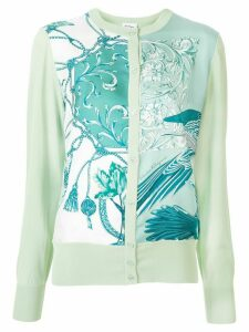 Salvatore Ferragamo floral print knitted cardigan - Green