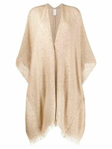 Brunello Cucinelli sequin-embellished fringed cardigan - NEUTRALS