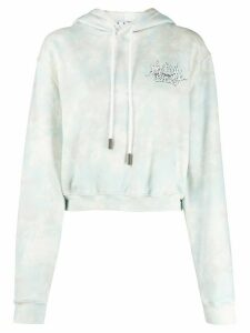 Off-White Meteor Shower cropped hoodie - Blue