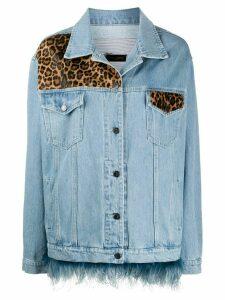 Simonetta Ravizza leopard print denim jacket - Blue