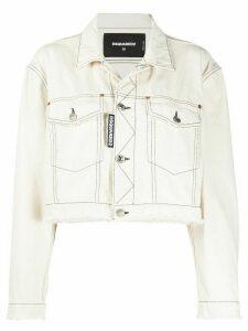 Dsquared2 cropped denim jacket - White