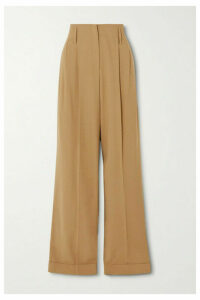 Michael Kors Collection - Pleated Wool Straight-leg Pants - Beige