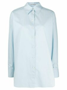 Acne Studios oversized pointed collar shirt - Blue