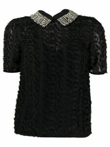 Blumarine embellished collar blouse - Black