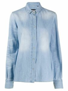 Frankie Morello denim long sleeve shirt - Blue