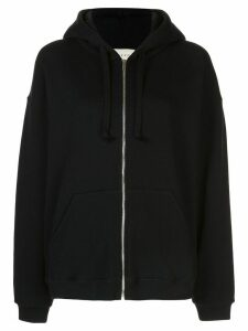 Gucci logo-print zip-up hoodie - Black
