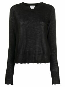 Bottega Veneta sheer scalloped jumper - Black
