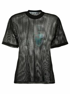 Off-White printed net top - Black