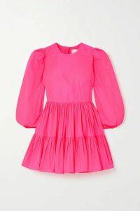 Valentino - Tiered Poplin Mini Dress - Pink