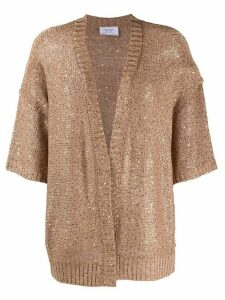 Snobby Sheep sequin embroidered cardigan - Brown