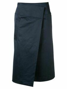 Des Prés poplin wrap skirt - Blue
