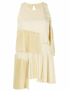 Nº21 pleated details tank top - NEUTRALS
